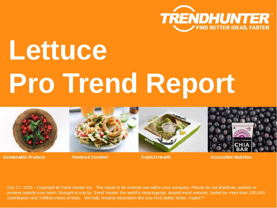 Lettuce Trend Report Research