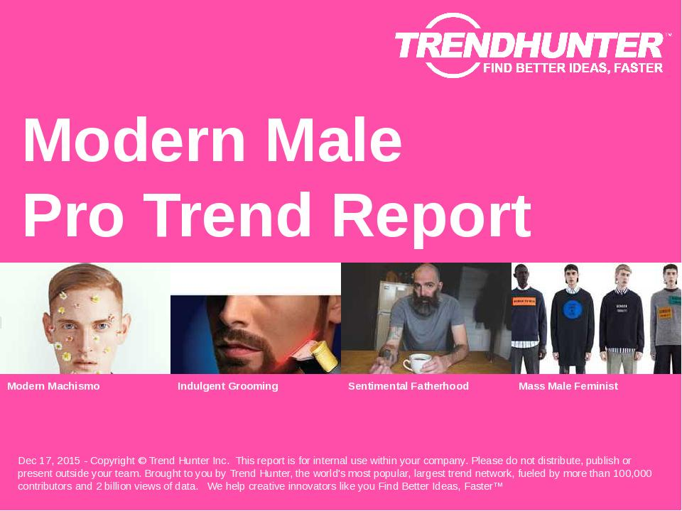 Modern Male Trend Report Research