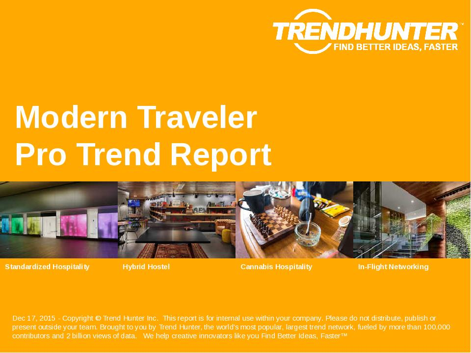 Modern Traveler Trend Report Research