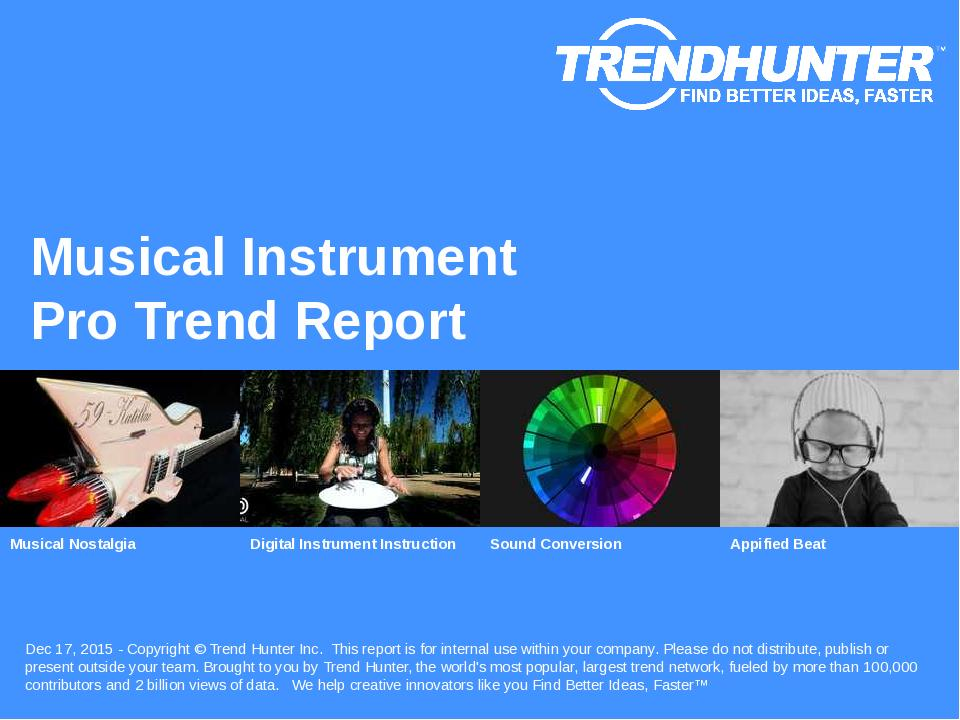 Musical Instrument Trend Report Research