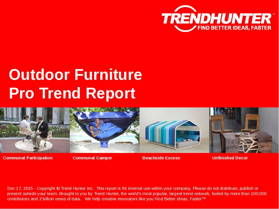 Outdoor Furniture Trend Report Research