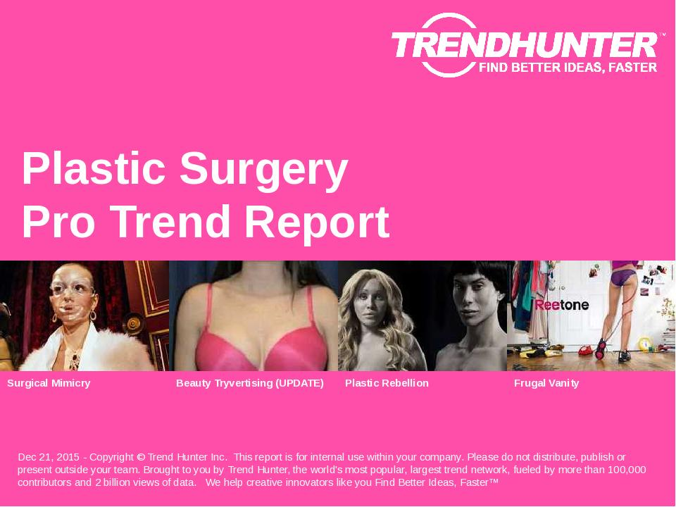 Plastic Surgery Trend Report Research