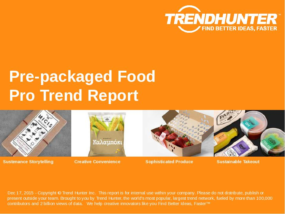 Pre-packaged Food Trend Report Research