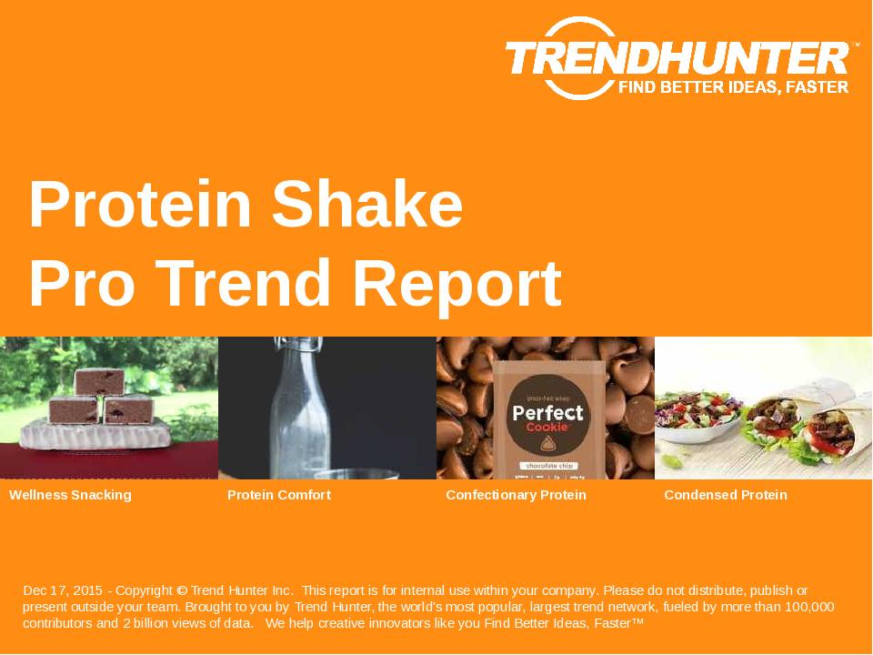 Protein Shake Trend Report Research