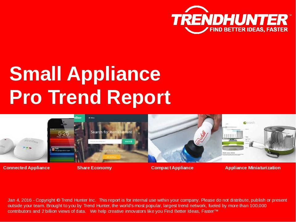 Small Appliance Trend Report Research