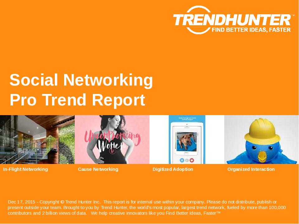 Social Networking Trend Report Research