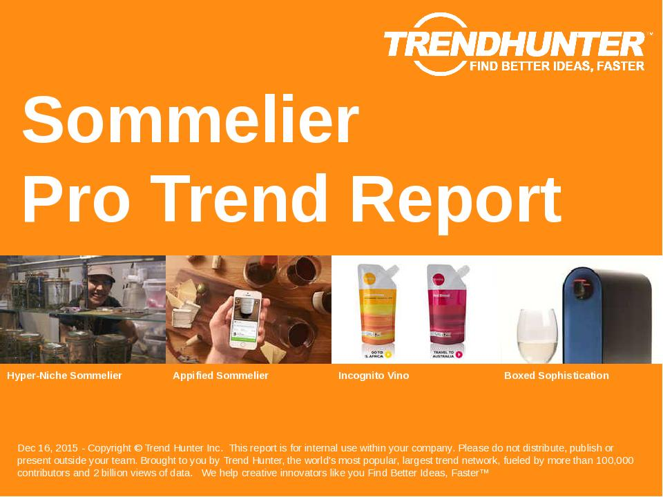 Sommelier Trend Report Research