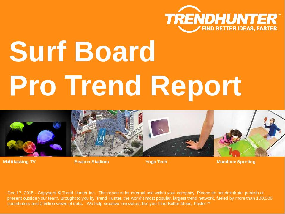 Surf Board Trend Report Research