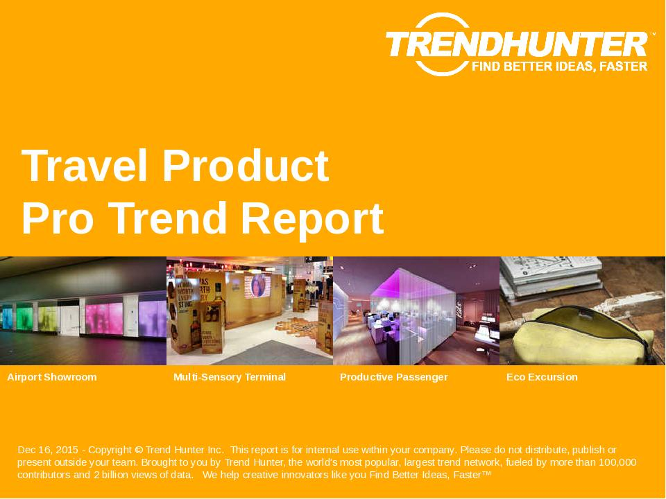 Travel Product Trend Report Research