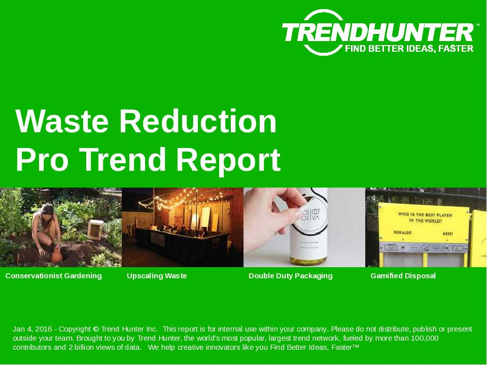 Waste Reduction Trend Report Research