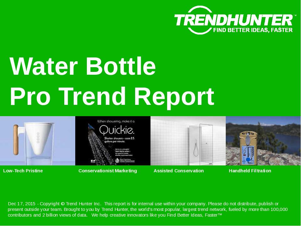 Water Bottle Trend Report Research