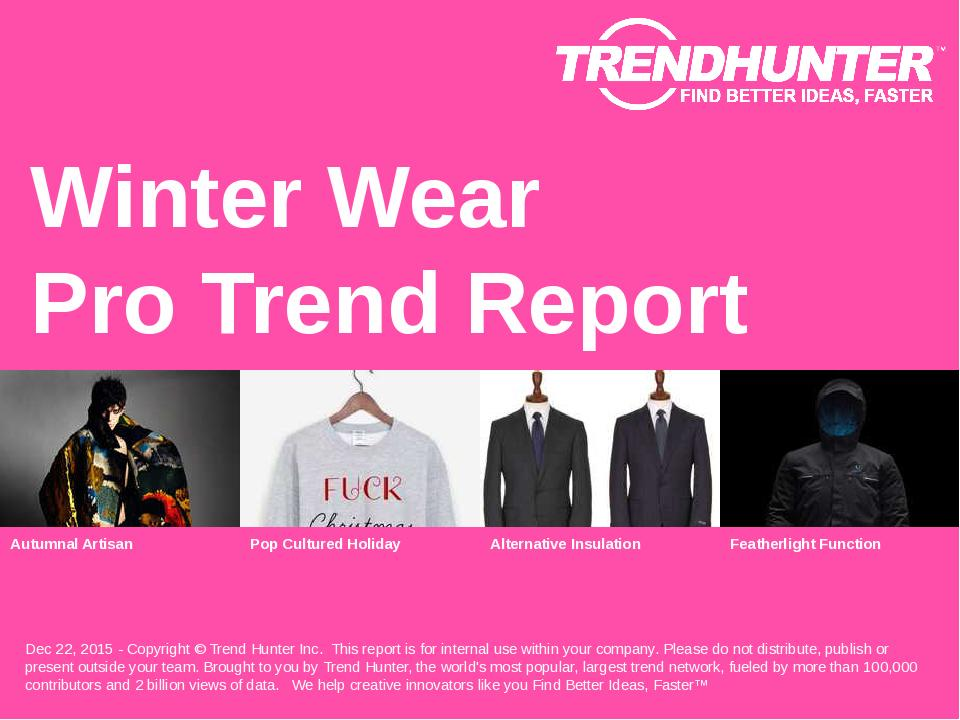 Winter Wear Trend Report Research