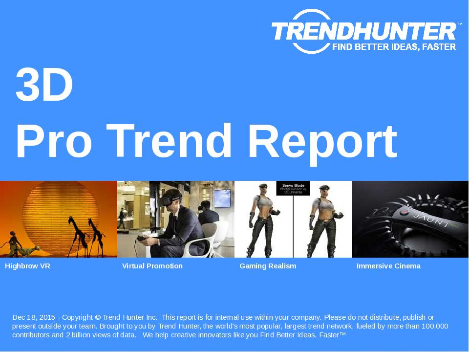 3D Trend Report Research