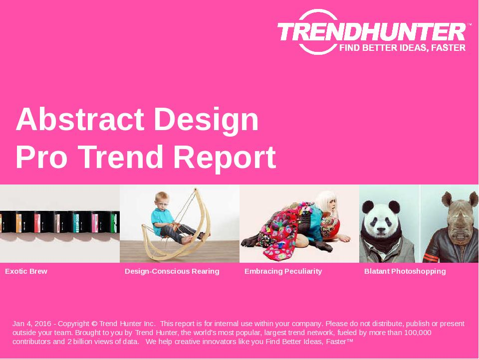 Abstract Design Trend Report Research