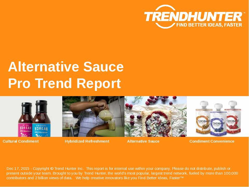 Alternative Sauce Trend Report Research