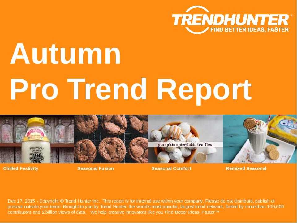 Autumn Trend Report Research