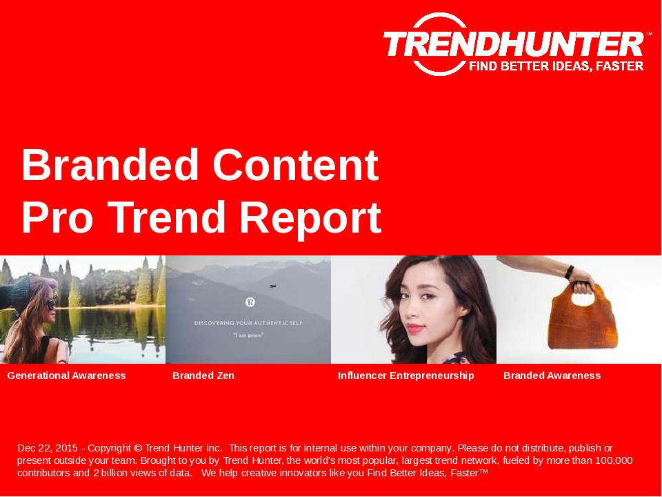 Branded Content Trend Report Research