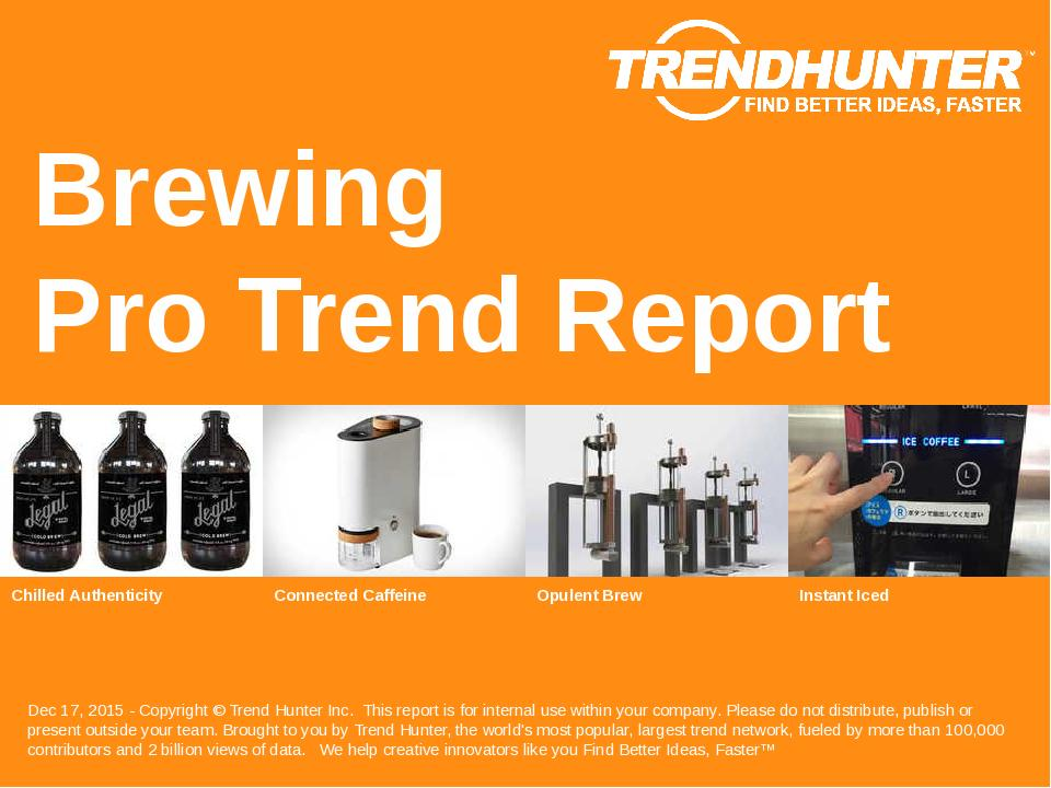 Brewing Trend Report Research