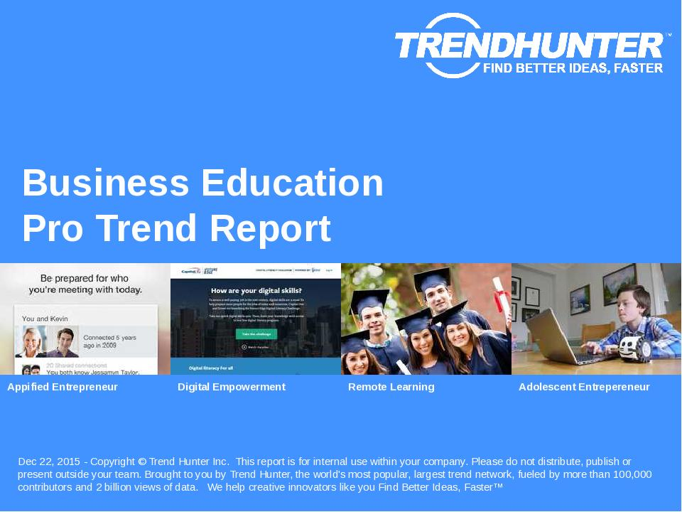 Business Education Trend Report Research