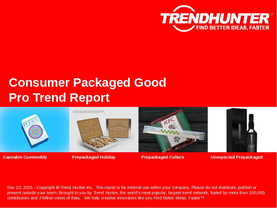Consumer Packaged Good Trend Report Research