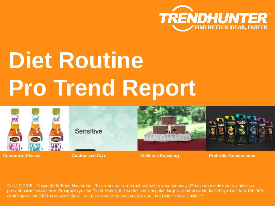 Diet Routine Trend Report Research