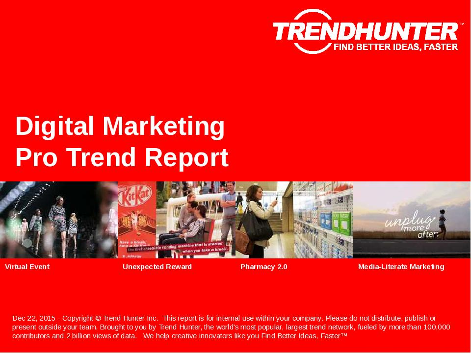 Digital Marketing Trend Report Research