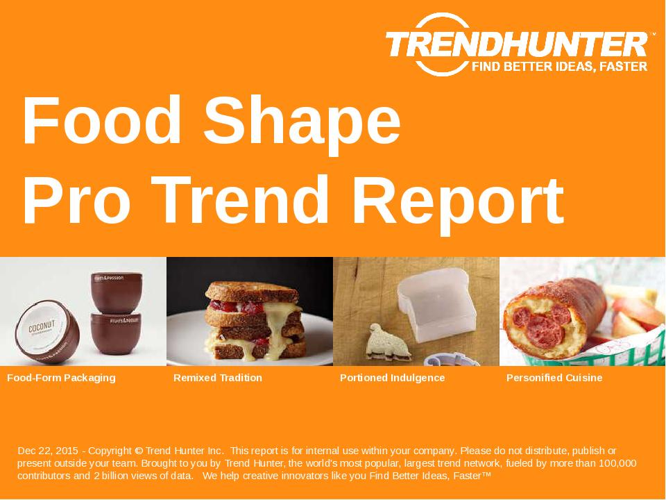 Food Shape Trend Report Research