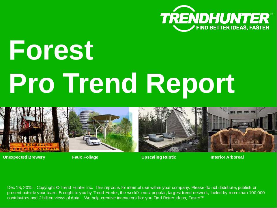 Forest Trend Report Research