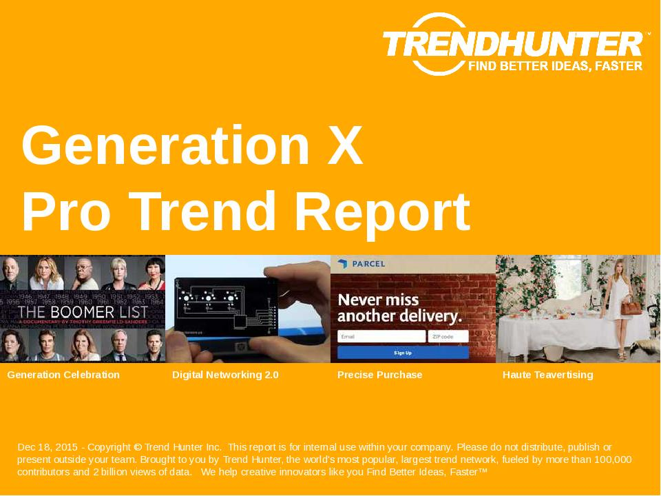 Generation X Trend Report Research