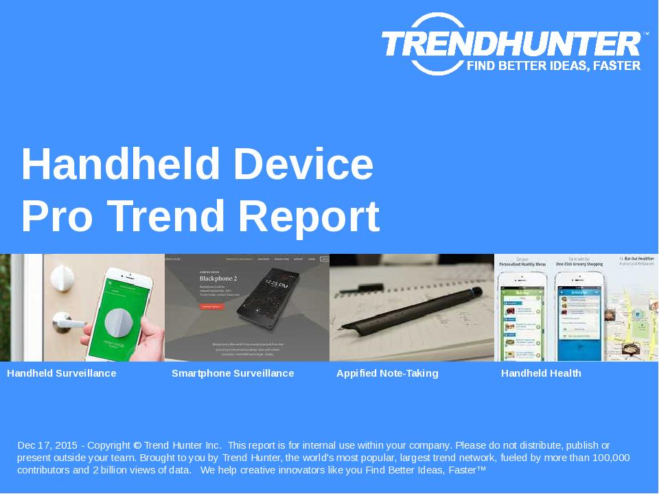 Handheld Device Trend Report Research
