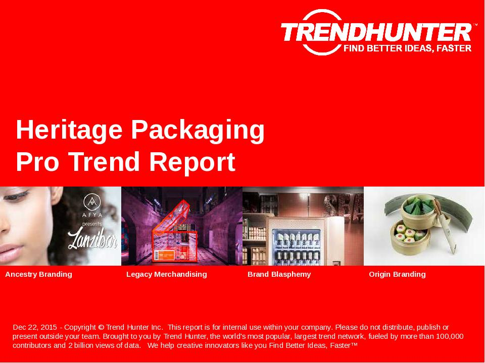 Heritage Packaging Trend Report Research