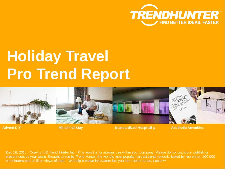 Holiday Travel Trend Report Research