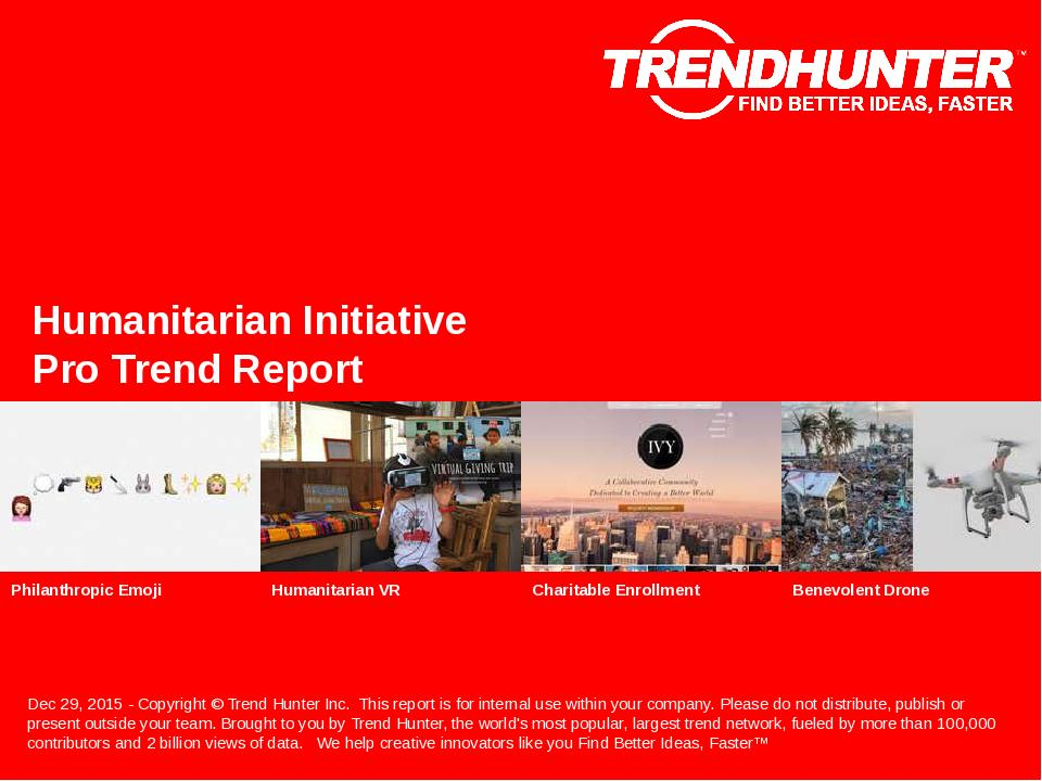 Humanitarian Initiative Trend Report Research