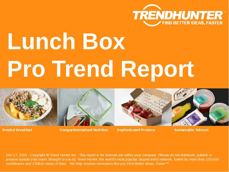 Lunch Box Trend Report Research