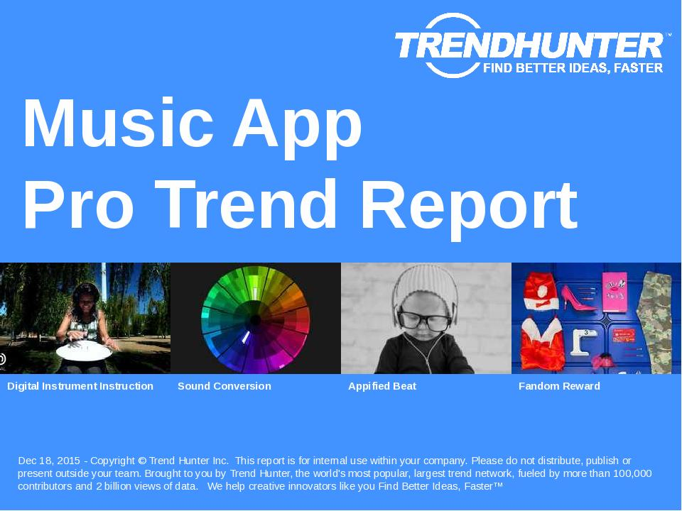 Music App Trend Report Research