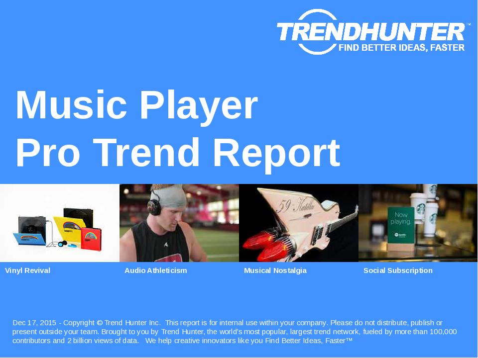 Music Player Trend Report Research