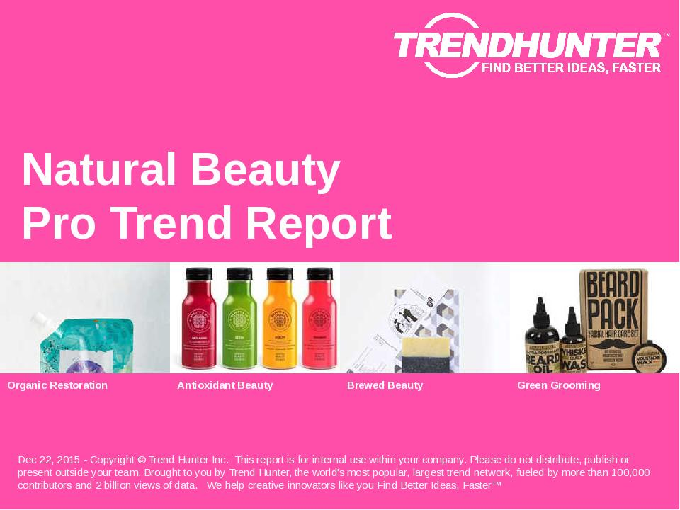 Natural Beauty Trend Report Research