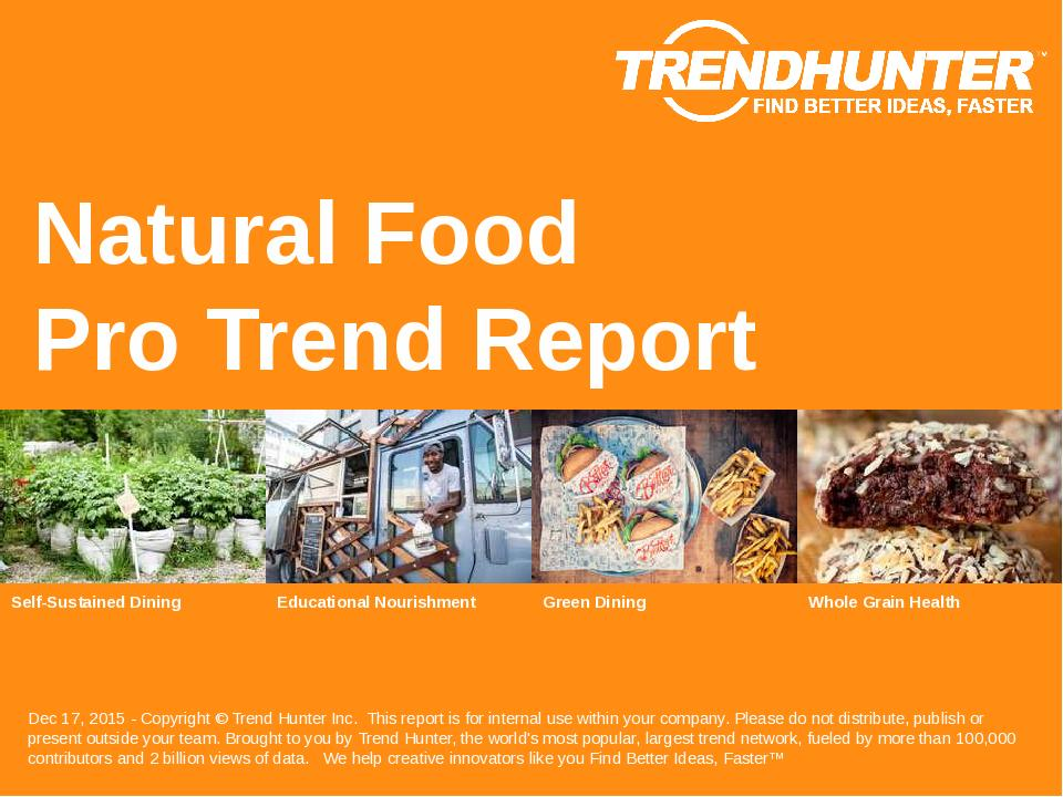 Natural Food Trend Report Research