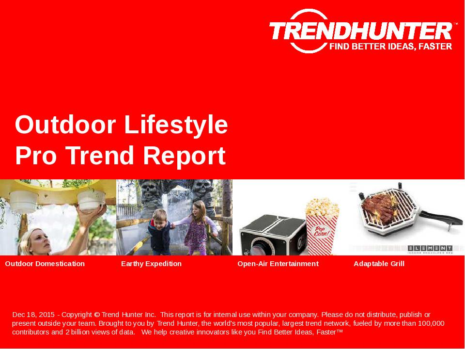 Outdoor Lifestyle Trend Report Research