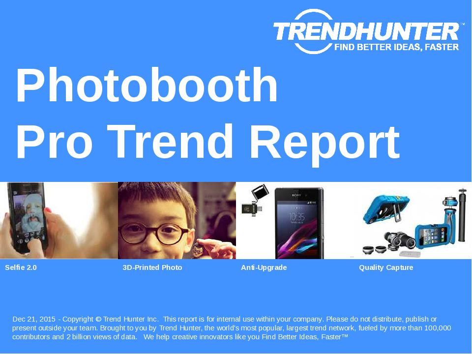 Photobooth Trend Report Research