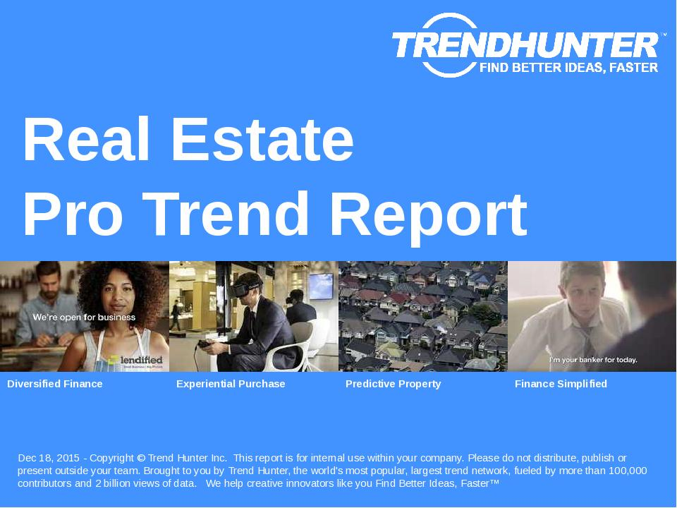 Real Estate Trend Report Research