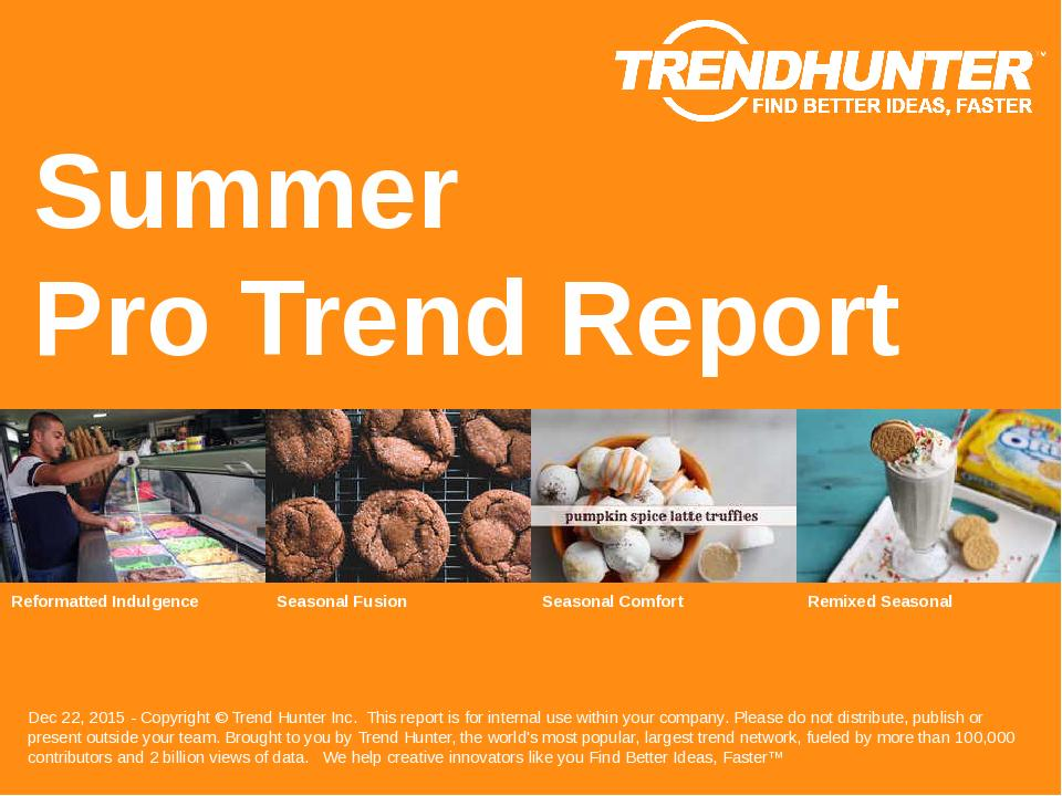 Summer Trend Report Research