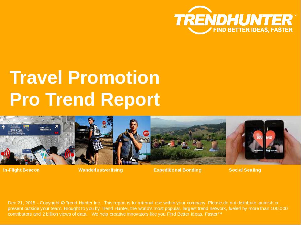 Travel Promotion Trend Report Research
