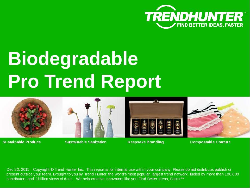 Biodegradable Trend Report Research