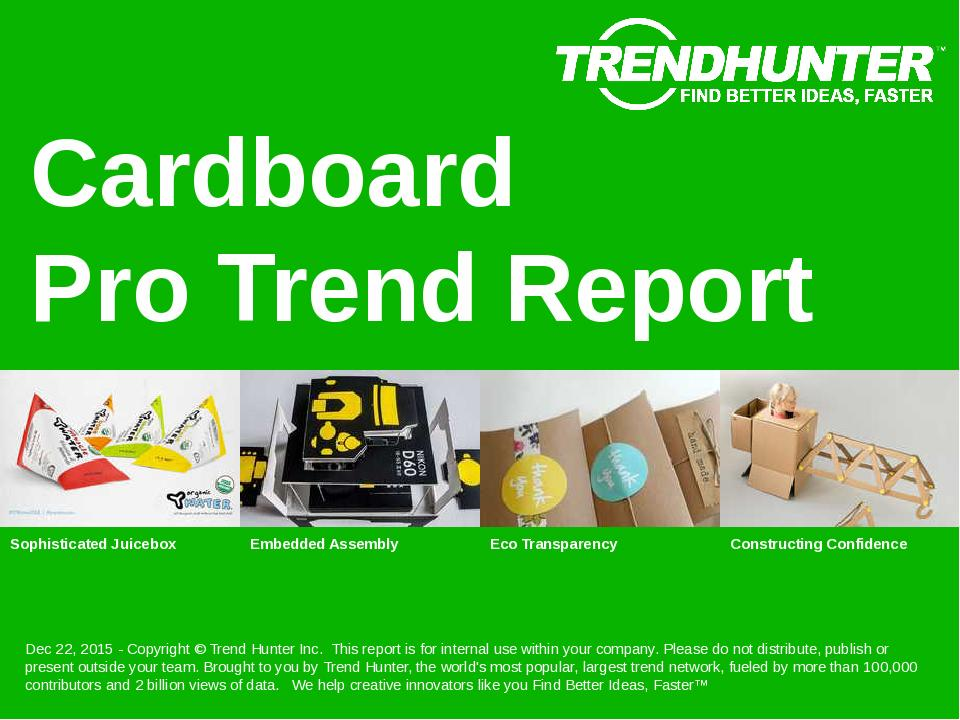 Cardboard Trend Report Research