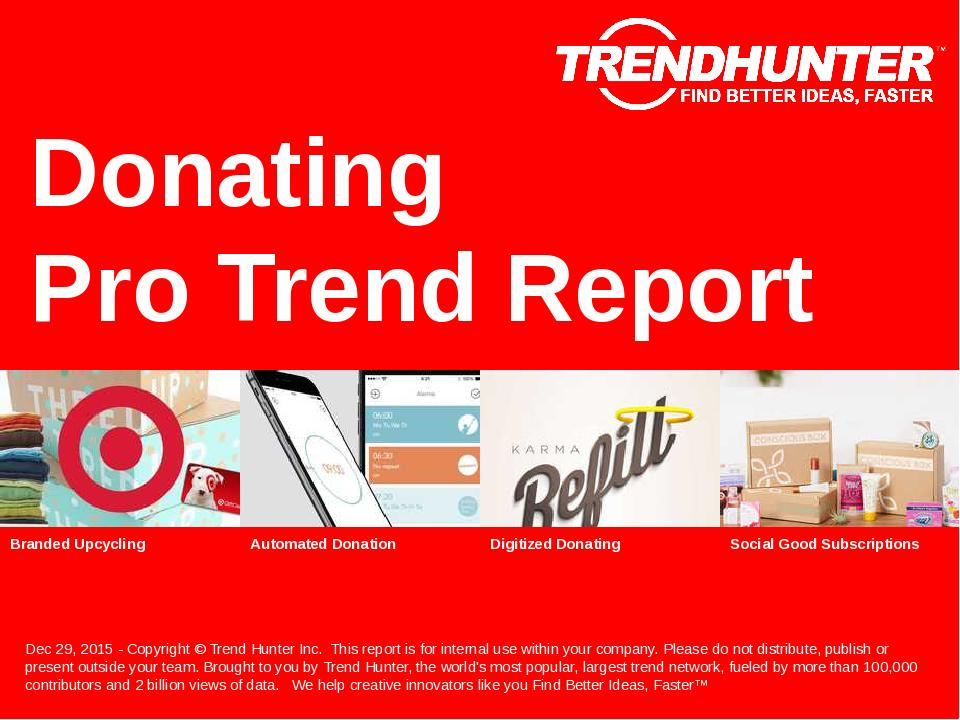 Donating Trend Report Research