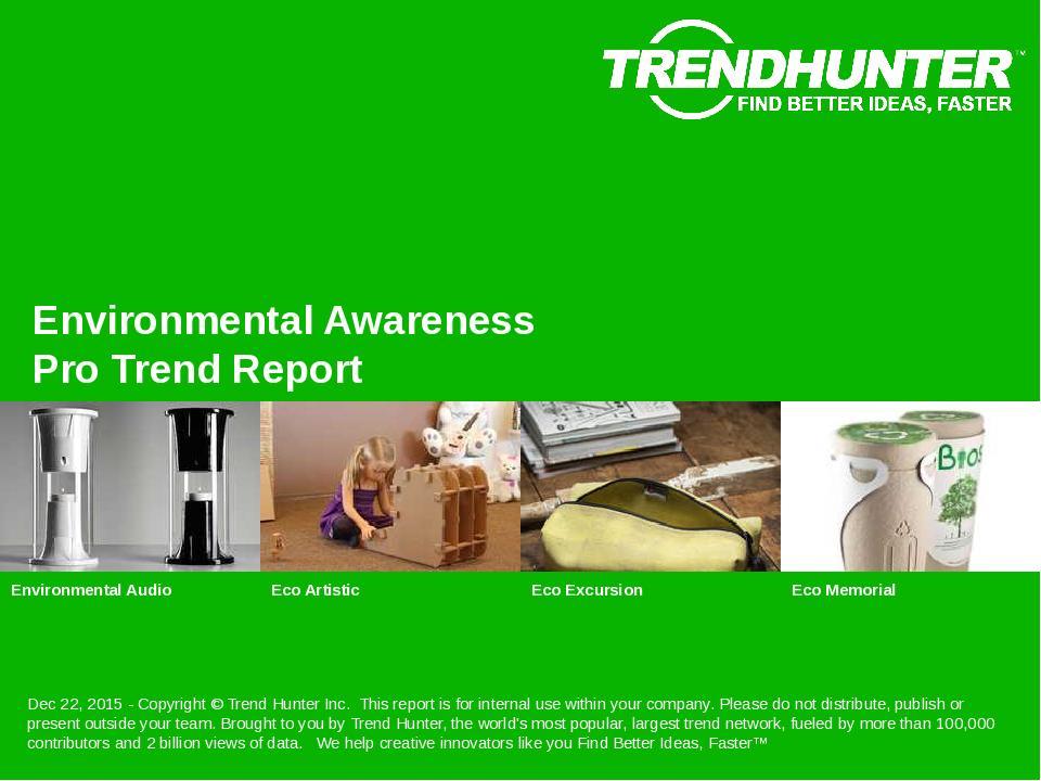 Environmental Awareness Trend Report Research