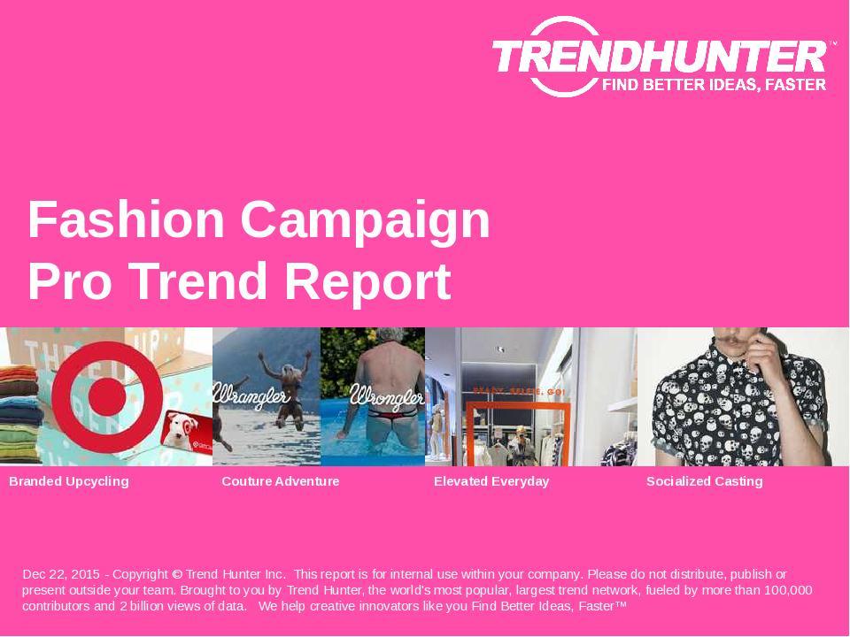 Fashion Campaign Trend Report Research