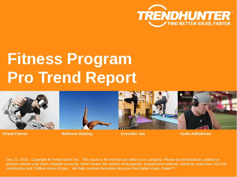 Fitness Program Trend Report Research