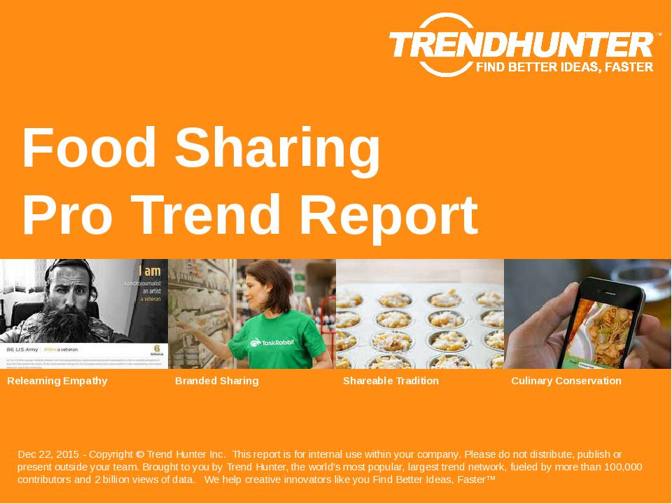 Food Sharing Trend Report Research